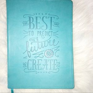 The best is yet to come turquoise large journal